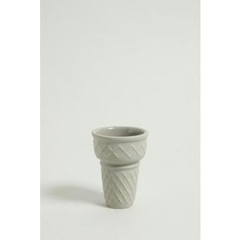 Ice Cream Cone Mini Plant Pot - Grey All At Urban Ou...