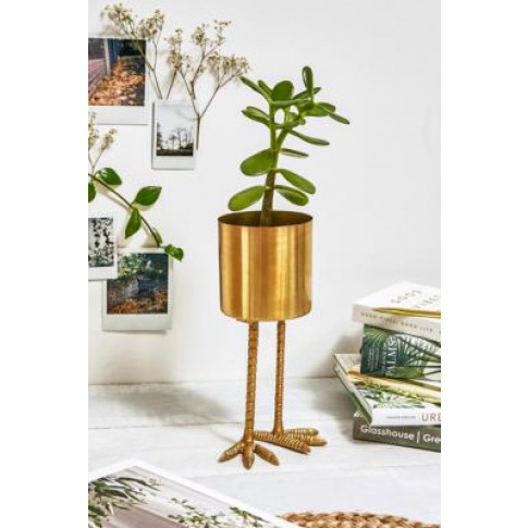 Birdie Plant Pot - Gold All At Urban Outfitters