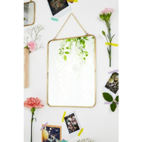 Large Rectangle Mirror - Gold All At Urban Outfitters