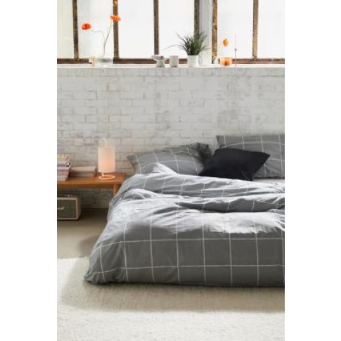 Distressed Check Duvet Cover Set - Grey At Urban Out...