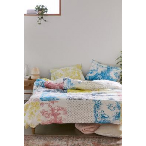 Patchwork Tolie Floral Duvet Cover Set - Assorted Do...