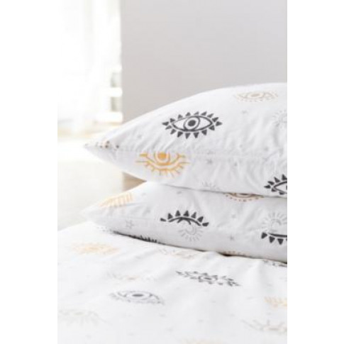 Eye Duvet Cover Set - White Single At Urban Outfitters