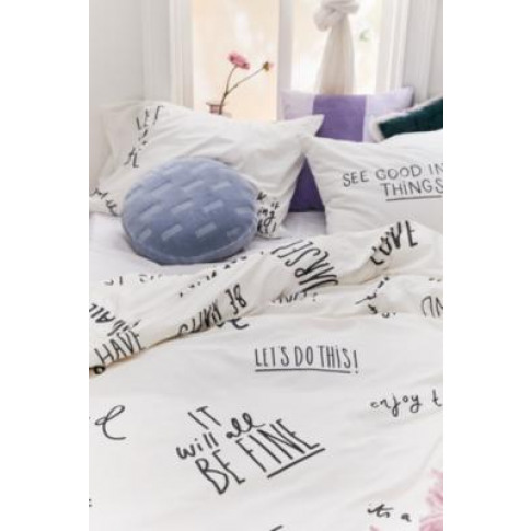 Positive Vibes Duvet Cover Set - White Double At Urb...