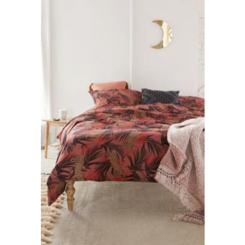 Jungle Cats Duvet Cover Set - Red Single At Urban Ou...