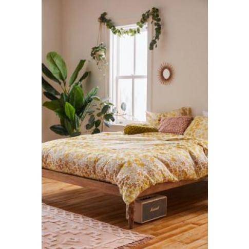 Racquel Floral Duvet Cover Set - Yellow Single At Ur...