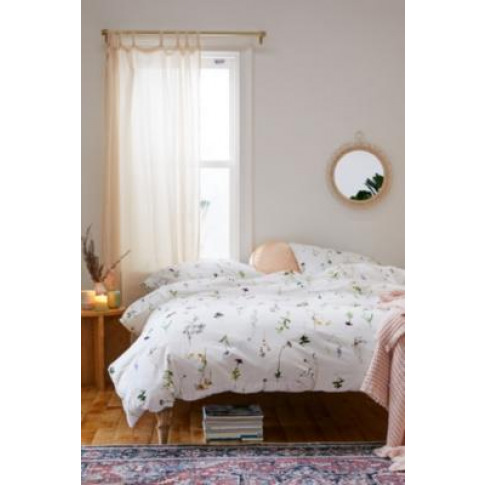 Lola Floral Duvet Cover Set With Reusable Fabric Bag...