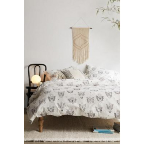 Gothic Butterfly Duvet Cover Set With Reusable Fabri...