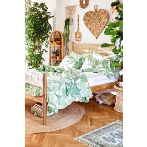 Raine Duvet Cover Set With Reusable Fabric Bag - Gre...