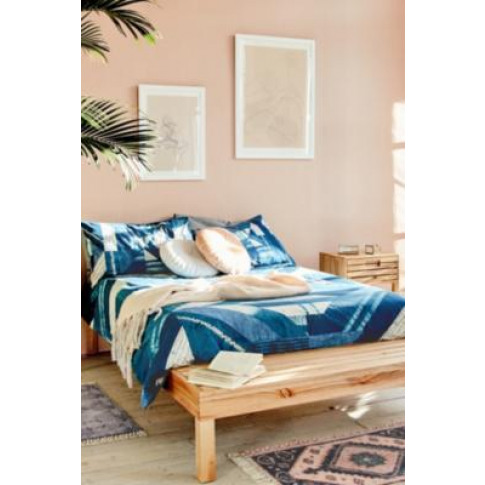 Blue Patchwork Duvet Cover Set - Blue Double At Urban Outfitters