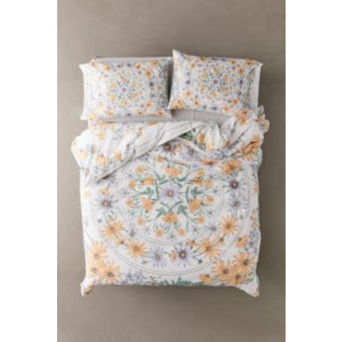 Clara Duvet Cover Set - White Double At Urban Outfitters