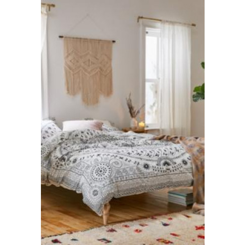 Bobbi Black And White Floral Duvet Cover Set - Assorted Single At Urban Outfitters