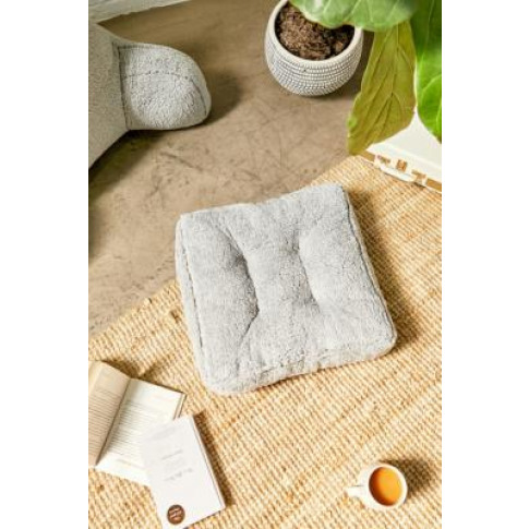 Sherpa Floor Cushion - Grey All At Urban Outfitters