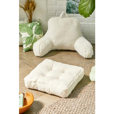 Sherpa Floor Cushion - Beige All At Urban Outfitters