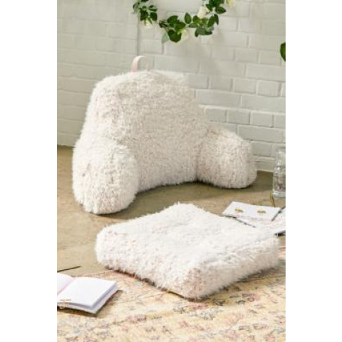 Fluffy Floor Cushion - Pink All At Urban Outfitters