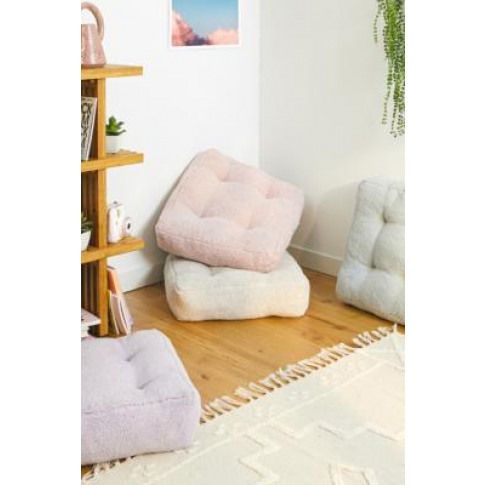 Sherpa Floor Cushion - Grey At Urban Outfitters
