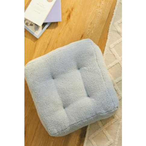 Sherpa Floor Cushion - Blue At Urban Outfitters