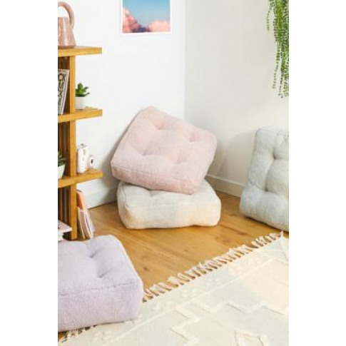 Sherpa Floor Cushion - Pink At Urban Outfitters