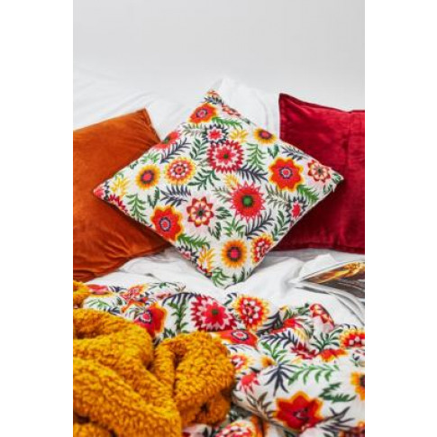 Orla Floral Throw Cushion - Assorted All At Urban Outfitters