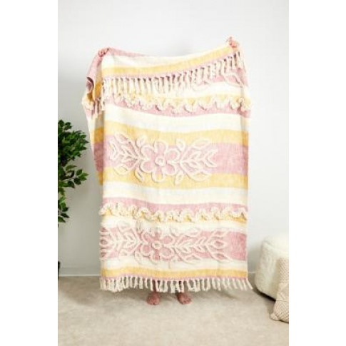 Gretl Tufted Throw Blanket - Pink All At Urban Outfi...