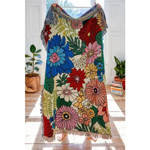Valley Cruise Floral Throw Blanket - Assorted All At...
