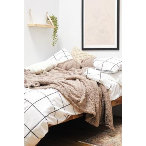 Amped Fleece Throw Blanket - Brown At Urban Outfitters