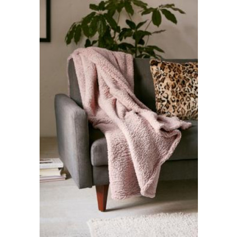 Amped Fleece Pink Throw Blanket - Pink At Urban Outf...