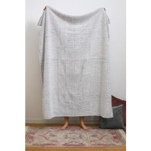 Amped Fleece Tipped Grey Throw Blanket - Grey At Urb...