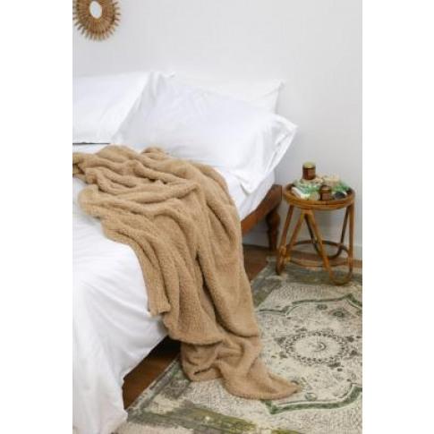 Amped Fleece Stone Throw Blanket - Beige At Urban Ou...