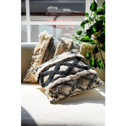 Boho Patterned Cushion - Black All At Urban Outfitters