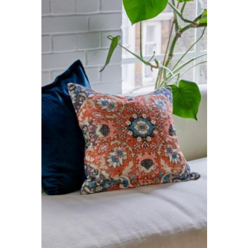 Ellis Velvet Cushion - Blue All At Urban Outfitters