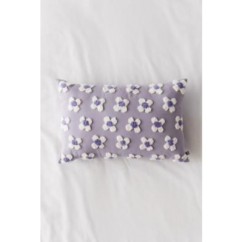 Anaya Floral Tufted Throw Cushion - Blue All At Urba...