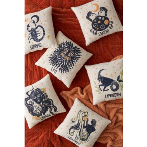 Zodiac Cushion - Black All At Urban Outfitters