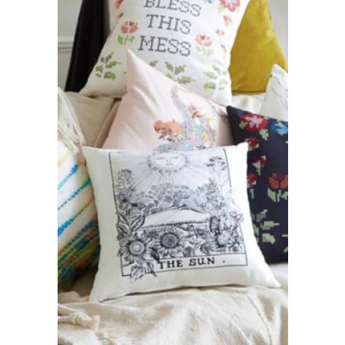 The Sun Tarot Card Cushion - White All At Urban Outf...