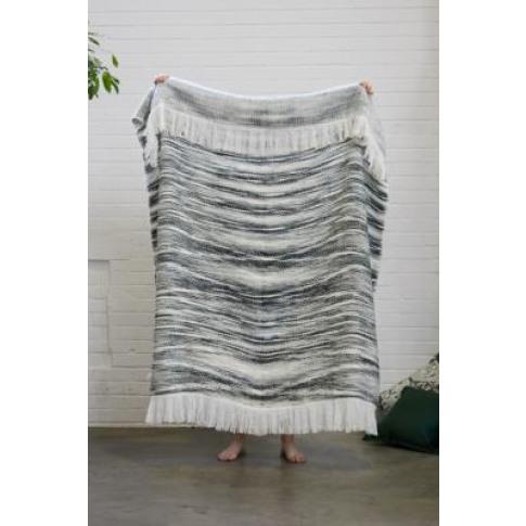 Reversible Grey Throw Blanket - Grey All At Urban Ou...