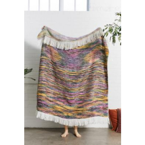 Reversible Multicolour Throw Blanket - Assorted All At Urban Outfitters