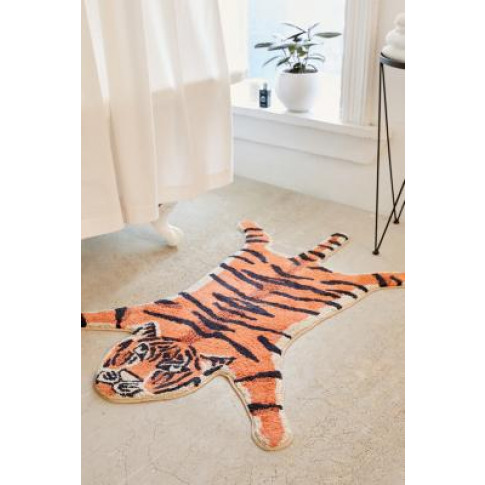 Tiger Bath Mat - Orange All At Urban Outfitters