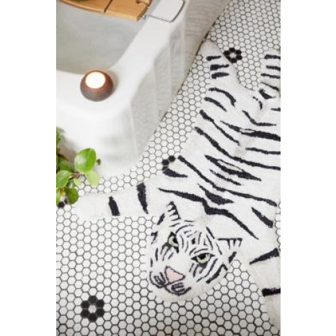 Tiger Bath Mat - White All At Urban Outfitters