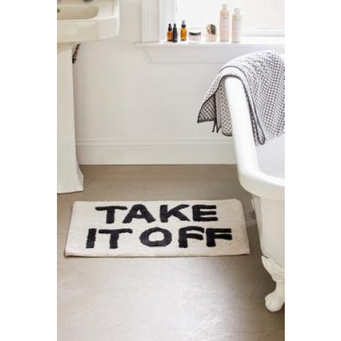 Take It Off Bath Mat - Black All At Urban Outfitters