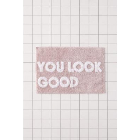 You Look Good Bath Mat - Pink All At Urban Outfitters