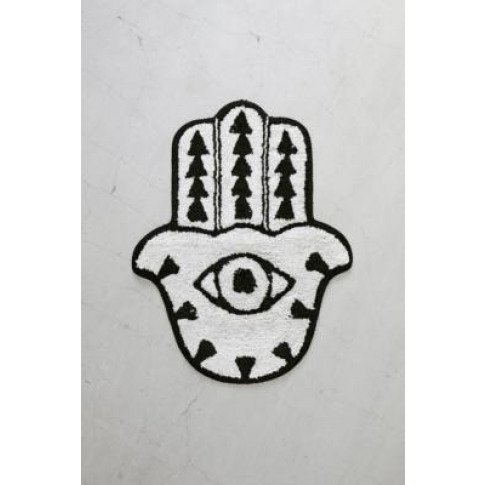 Hamsa Hand Bath Mat - Black All At Urban Outfitters
