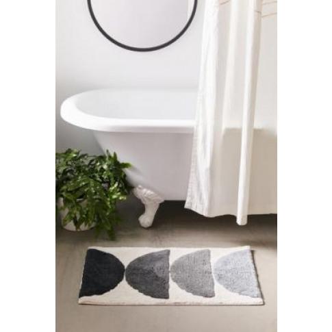 Moon Phase Runner Bath Mat - Black All At Urban Outf...