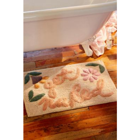 Get Naked Floral Bath Mat - White All At Urban Outfi...