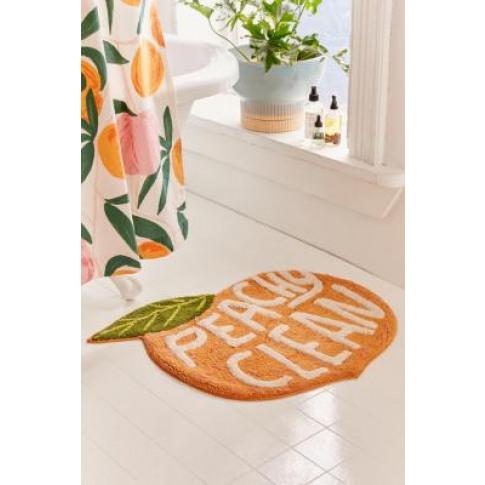 Peachy Clean Bath Mat - Pink At Urban Outfitters