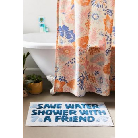 Save Water Bath Mat - White All At Urban Outfitters