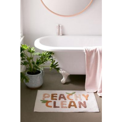 Peachy Clean Bath Mat - Pink All At Urban Outfitters