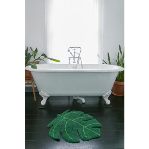 Monstera Bath Mat - Green At Urban Outfitters