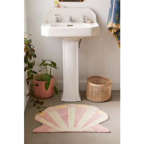 Shelly Shaped Bath Mat - Pink All At Urban Outfitters