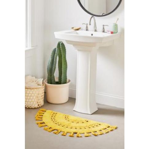 Crochet Sun Bath Mat - Yellow All At Urban Outfitters