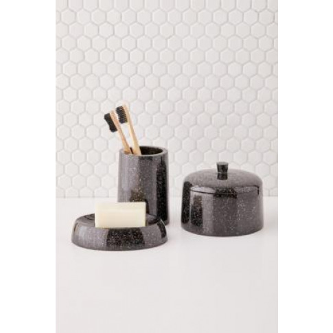Glitter Resin Soap Dish - Black All At Urban Outfitters