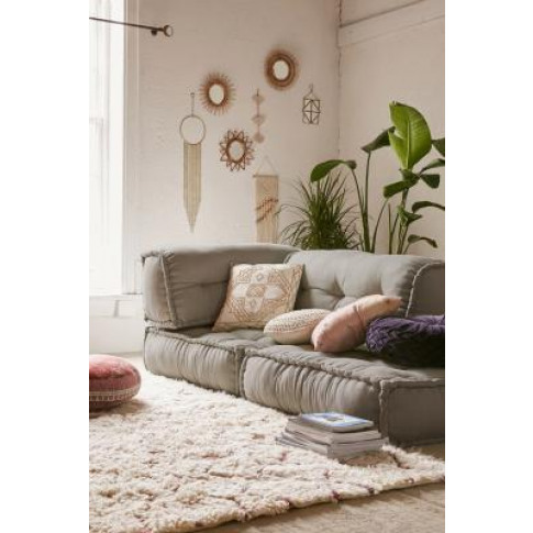 Reema Grey Floor Cushion - Grey All At Urban Outfitters